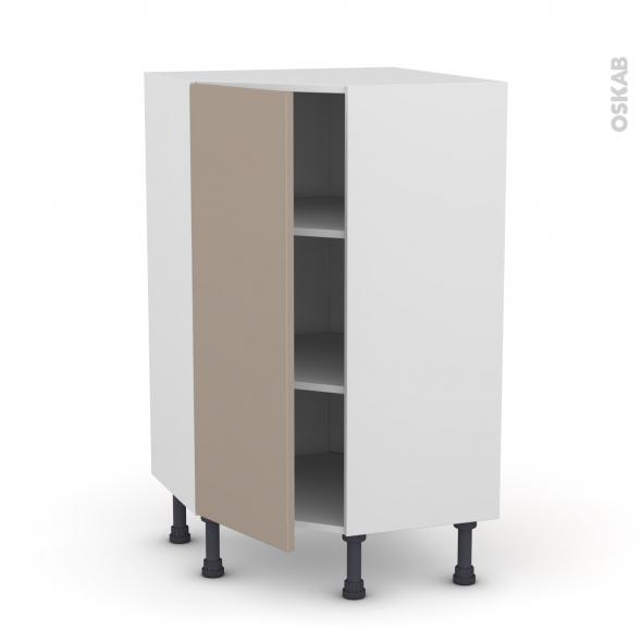Meuble de cuisine - Angle bas - GINKO Taupe - 1 porte N°23 L40 cm - L65 x H92 x P37 cm