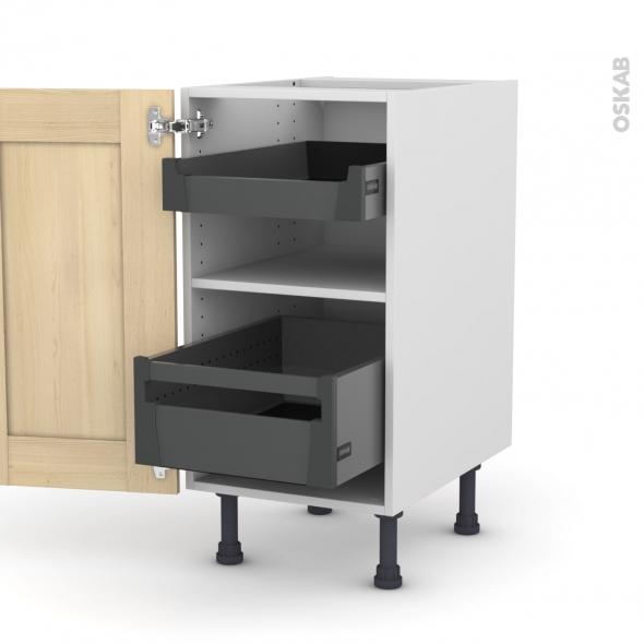 BETULA Bouleau - Meuble bas - 2 tiroirs à l'anglaise - L40xH70xP58