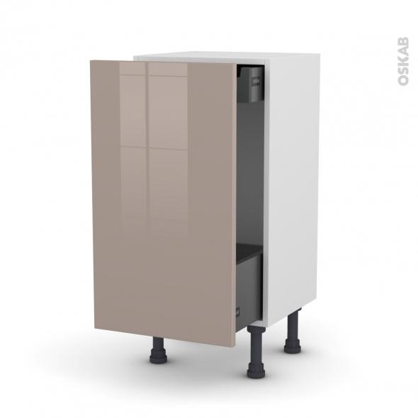 KERIA Moka - Meuble bas coulissant - 1 porte-1 tiroir anglaise - L40xH70xP37