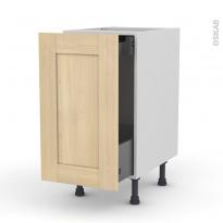 BETULA Bouleau - Meuble bas coulissant  - 1 porte -1 tiroir anglaise - L40xH70xP58