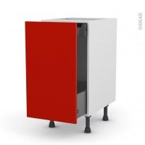 GINKO Rouge - Meuble bas coulissant  - 1 porte-1 tiroir anglaise - L40xH70xP58