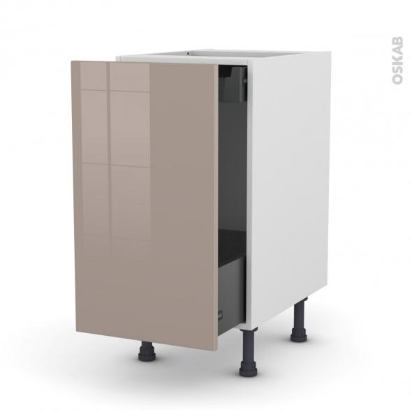 KERIA Moka - Meuble bas coulissant  - 1 porte-1 tiroir anglaise - L40xH70xP58