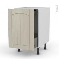SILEN Argile - Meuble bas coulissant  - 1 porte-1 tiroir anglaise - L50xH70xP58