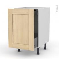 BETULA Bouleau - Meuble bas coulissant  - 1 porte -1 tiroir anglaise - L50xH70xP58