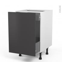 GINKO Gris - Meuble bas coulissant  - 1 porte-1 tiroir anglaise - L50xH70xP58