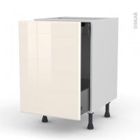 IRIS Ivoire - Meuble bas coulissant  - 1 porte -1 tiroir anglaise - L50xH70xP58