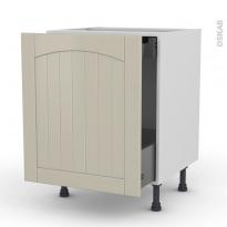 SILEN Argile - Meuble bas coulissant  - 1 porte-1 tiroir anglaise - L60xH70xP58