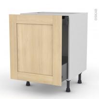 BETULA Bouleau - Meuble bas coulissant  - 1 porte - 1 tiroir anglaise - L60xH70xP58