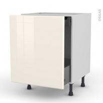 IRIS Ivoire - Meuble bas coulissant  - 1 porte -1 tiroir anglaise - L60xH70xP58
