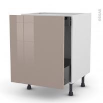 KERIA Moka - Meuble bas coulissant  - 1 porte -1 tiroir anglaise - L60xH70xP58