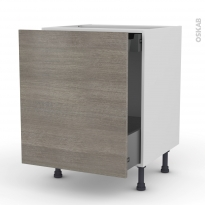STILO Noyer Naturel - Meuble bas coulissant  - 1 porte -1 tiroir anglaise - L60xH70xP58