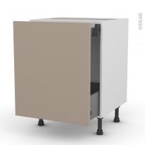 Meuble de cuisine - Bas coulissant - GINKO Taupe - 1 porte 1 tiroir à l'anglaise - L60 x H70 x P58 cm