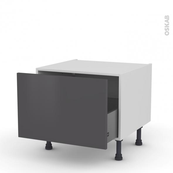GINKO Gris - Meuble bas coulissant - 1 porte - L60xH41xP58