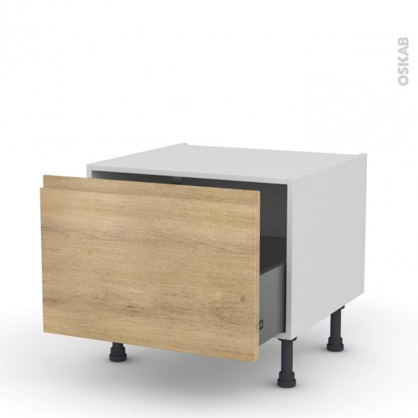 Meuble de cuisine - Bas coulissant - IPOMA Chêne naturel - 1 porte - L60 x H41 x P58 cm