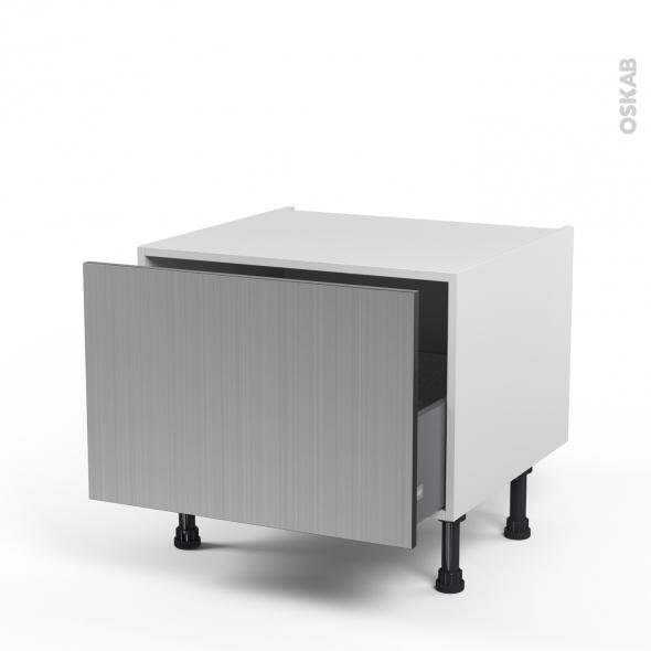 STILO Inox - Meuble bas coulissant - 1 porte - L60xH41xP58
