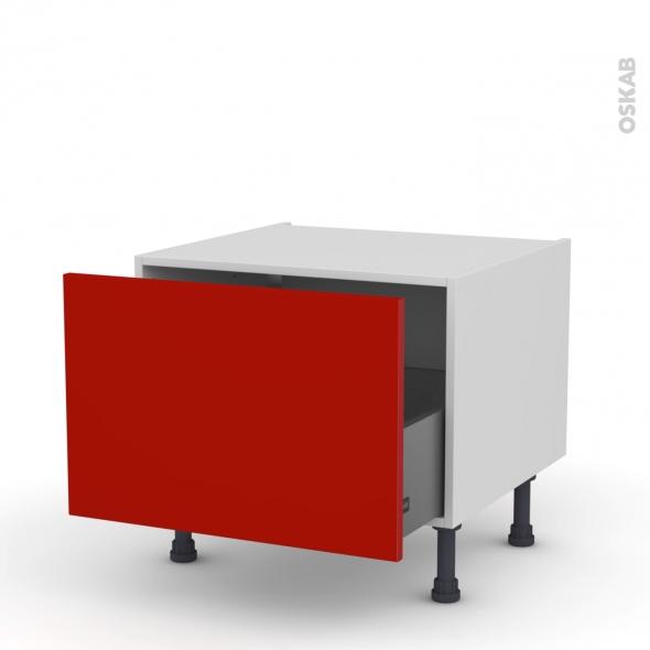 GINKO Rouge - Meuble bas coulissant - 1 porte - L60xH41xP58
