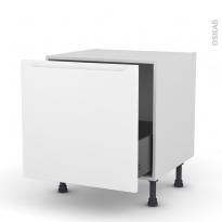Meuble de cuisine - Bas coulissant - PIMA Blanc - 1 porte - L60 x H57 x P58 cm