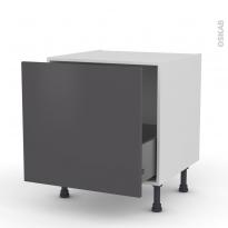 Meuble de cuisine - Bas coulissant - GINKO Gris - 1 porte - L60 x H57 x P58 cm
