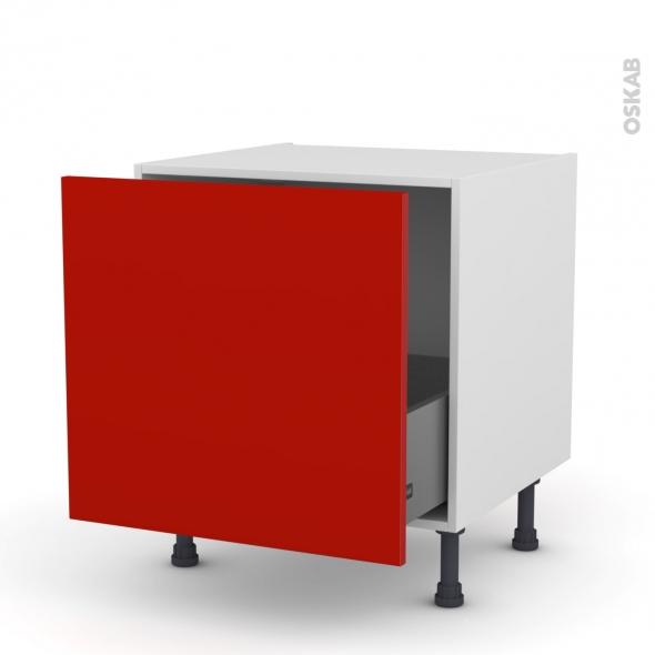 GINKO Rouge - Meuble bas coulissant - 1 porte - L60xH57xP58