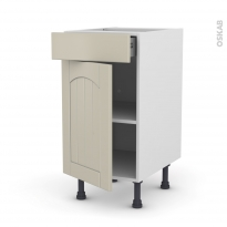 SILEN Argile - Meuble bas cuisine  - 1 porte 1 tiroir - L40xH70xP58 - gauche