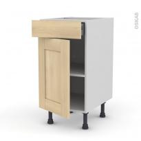 BETULA Bouleau - Meuble bas cuisine  - 1 porte 1 tiroir - L40xH70xP58