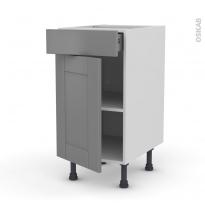 FILIPEN Gris - Meuble bas cuisine  - 1 porte 1 tiroir - L40xH70xP58