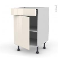IRIS Ivoire - Meuble bas cuisine  - 1 porte 1 tiroir - L50xH70xP58