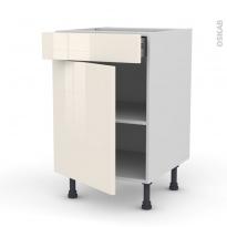 Meuble de cuisine - Bas - KERIA Ivoire - 1 porte 1 tiroir  - L50 x H70 x P58 cm