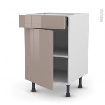 KERIA Moka - Meuble bas cuisine  - 1 porte 1 tiroir - L50xH70xP58