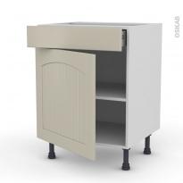 SILEN Argile - Meuble bas cuisine  - 1 porte 1 tiroir - L60xH70xP58 - gauche