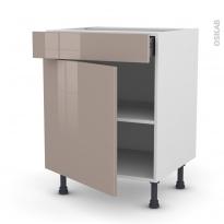 KERIA Moka - Meuble bas cuisine  - 1 porte 1 tiroir - L60xH70xP58