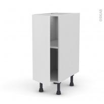 GINKO Blanc - Meuble bas cuisine  - 1 porte - L30xH70xP58