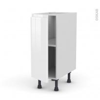 Meuble de cuisine - Bas - IPOMA Blanc - 1 porte - L30 x H70 x P58 cm