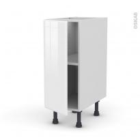 Meuble de cuisine - Bas - IRIS Blanc - 1 porte - L30 x H70 x P58 cm