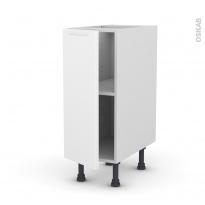 Meuble de cuisine - Bas - PIMA Blanc - 1 porte - L30 x H70 x P58 cm