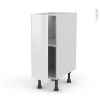 STECIA Blanc - Meuble bas cuisine  - 1 porte - L30xH70xP58