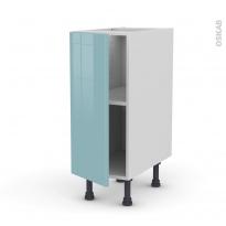 KERIA Bleu - Meuble bas cuisine  - 1 porte - L30xH70xP58