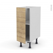 Meuble de cuisine - Bas - HOSTA Chêne naturel - 1 porte - L30 x H70 x P58 cm