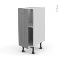 Meuble de cuisine - Bas - FILIPEN Gris - 1 porte - L30 x H70 x P58 cm