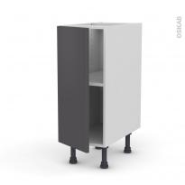 Meuble de cuisine - Bas - GINKO Gris - 1 porte - L30 x H70 x P58 cm