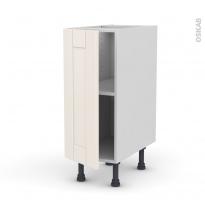 Meuble de cuisine - Bas - FILIPEN Ivoire - 1 porte - L30 x H70 x P58 cm
