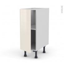 Meuble de cuisine - Bas - KERIA Ivoire - 1 porte - L30 x H70 x P58 cm