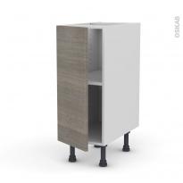 Meuble de cuisine - Bas - STILO Noyer Naturel - 1 porte - L30 x H70 x P58 cm