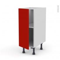 GINKO Rouge - Meuble bas cuisine  - 1 porte - L30xH70xP58