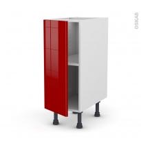 Meuble de cuisine - Bas - STECIA Rouge - 1 porte - L30 x H70 x P58 cm