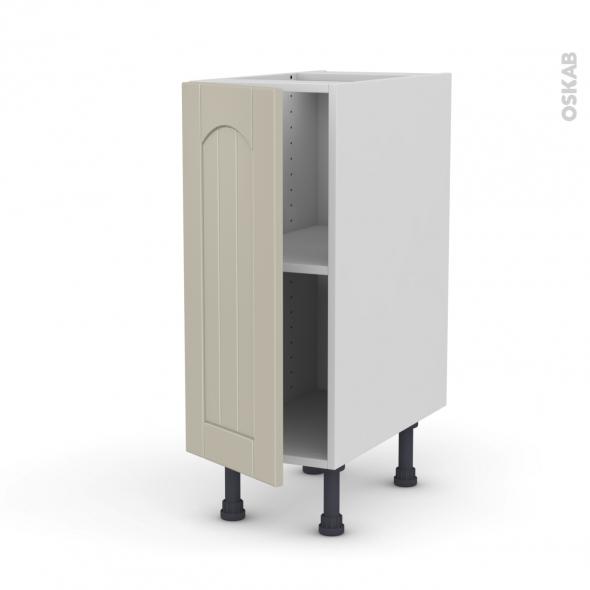 SILEN Argile - Meuble bas cuisine  - 1 porte - L30xH70xP58 - gauche