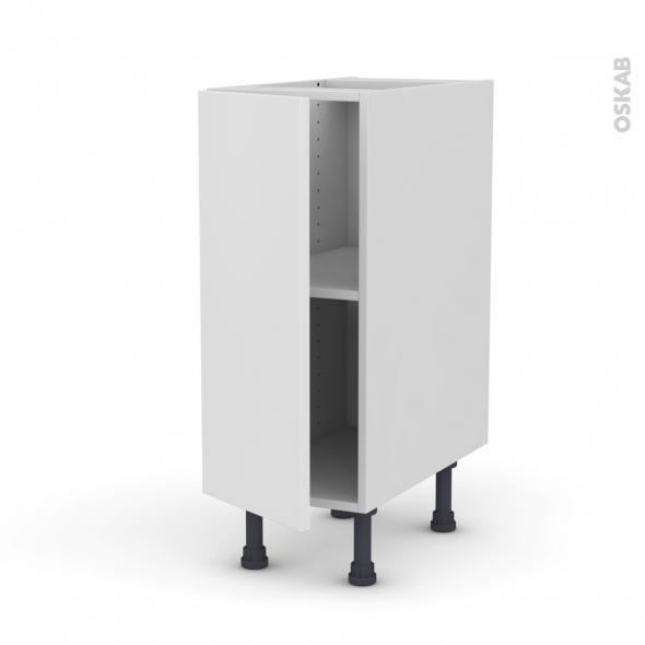 Meuble de cuisine - Bas - GINKO Blanc - 1 porte - L30 x H70 x P58 cm