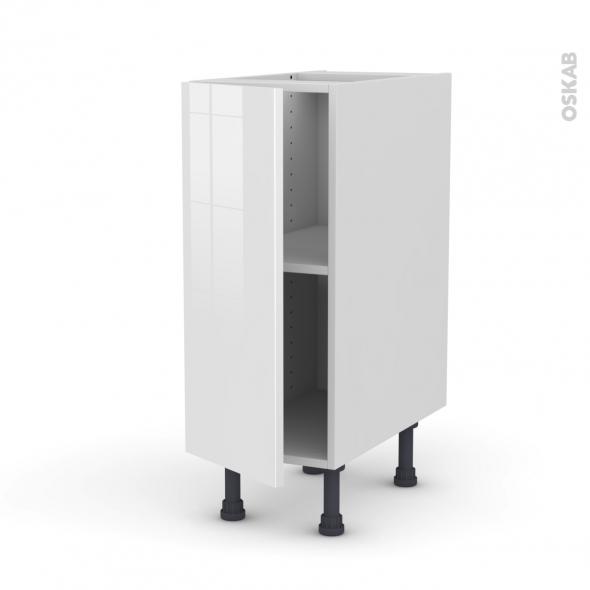 Meuble de cuisine - Bas - STECIA Blanc - 1 porte - L30 x H70 x P58 cm