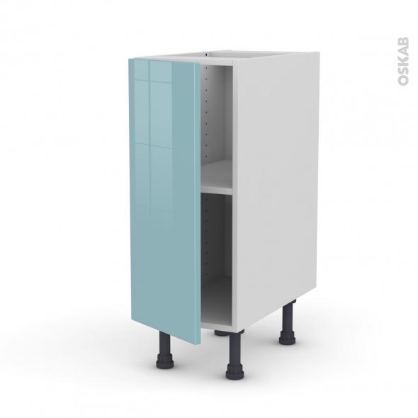 Meuble de cuisine - Bas - KERIA Bleu - 1 porte - L40 x H70 x P58 cm