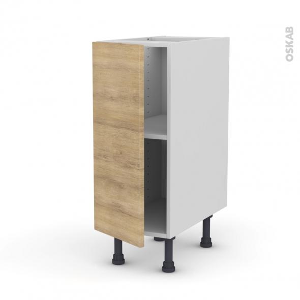 HOSTA Chêne naturel - Meuble bas cuisine  - 1 porte - L30xH70xP58